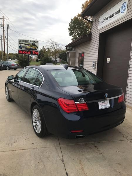 2011 BMW 7 Series for sale at Auto Import Specialist LLC in South Bend IN