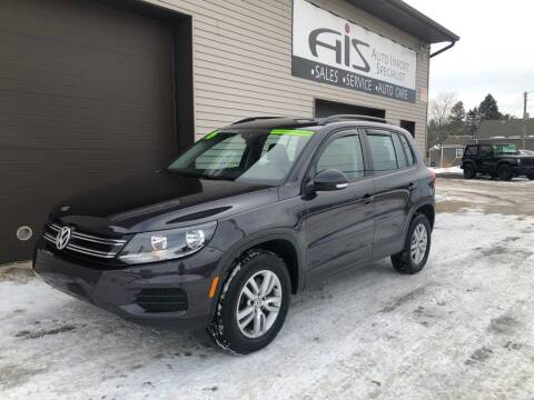 2016 Volkswagen Tiguan for sale at Auto Import Specialist LLC in South Bend IN