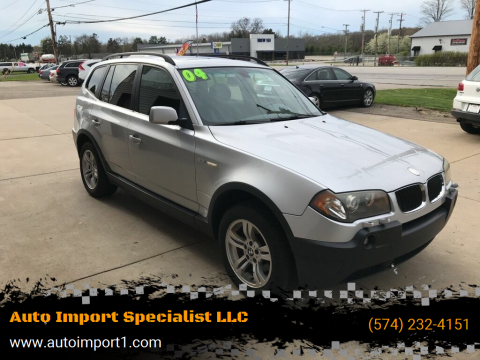 2004 BMW X3 for sale at Auto Import Specialist LLC in South Bend IN