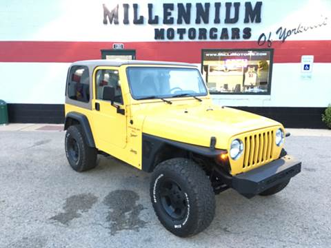 2000 Jeep Wrangler for sale at Millennium Motorcars in Yorkville IL