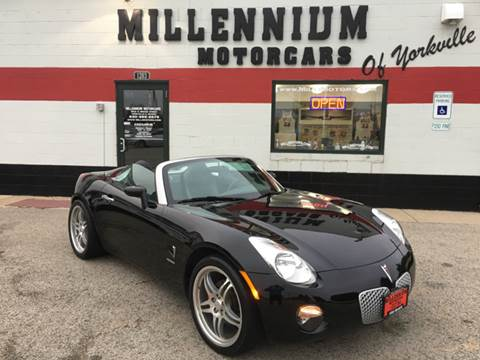 2006 Pontiac Solstice for sale at Millennium Motorcars in Yorkville IL