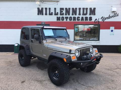 2004 Jeep Wrangler for sale at Millennium Motorcars in Yorkville IL