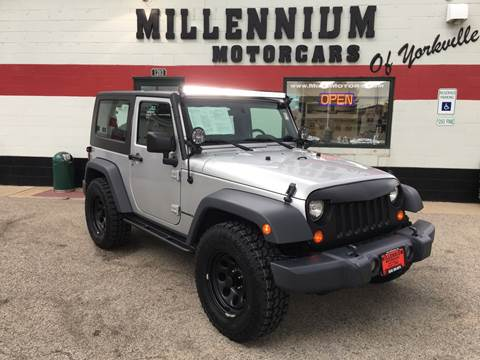 2009 Jeep Wrangler for sale at Millennium Motorcars in Yorkville IL