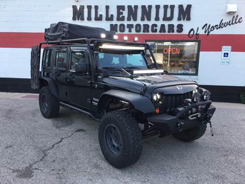 2012 Jeep Wrangler Unlimited for sale at Millennium Motorcars in Yorkville IL
