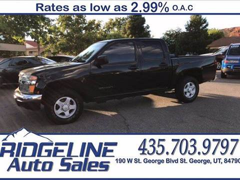 2004 GMC Canyon for sale at Ridgeline Auto Sales in Saint George UT