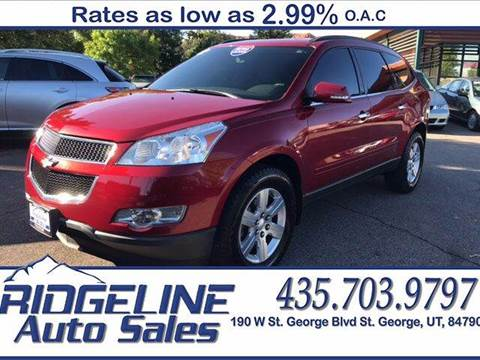 2012 Chevrolet Traverse for sale at Ridgeline Auto Sales in Saint George UT