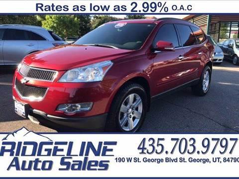2012 Chevrolet Traverse for sale at Ridgeline Auto Sales in Saint George UT