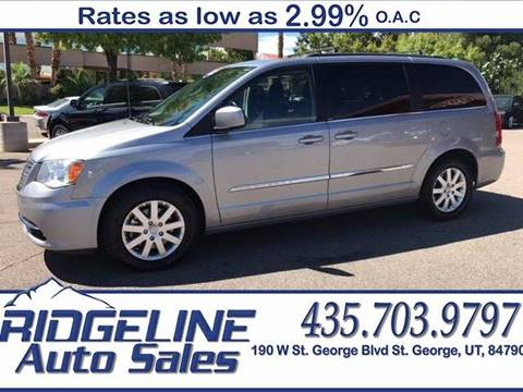2013 Chrysler Town and Country for sale at Ridgeline Auto Sales in Saint George UT