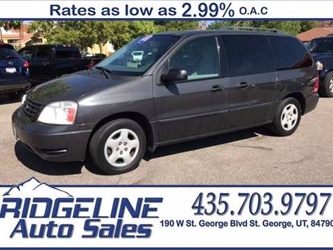 2007 Ford Freestar for sale at Ridgeline Auto Sales in Saint George UT
