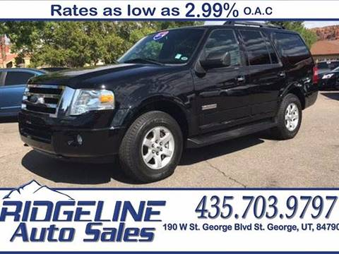 2008 Ford Expedition for sale at Ridgeline Auto Sales in Saint George UT