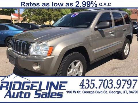 2005 Jeep Grand Cherokee for sale at Ridgeline Auto Sales in Saint George UT