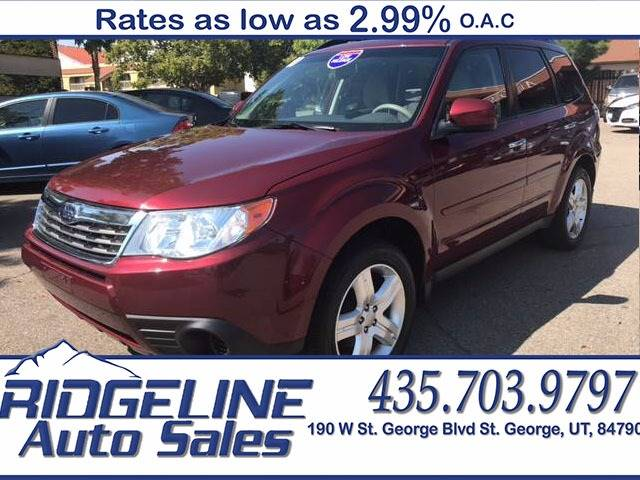 2010 Subaru Forester for sale at Ridgeline Auto Sales in Saint George UT