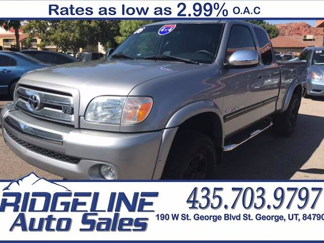 2006 Toyota Tundra for sale at Ridgeline Auto Sales in Saint George UT