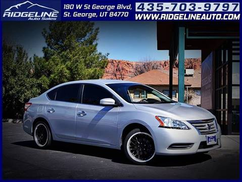 2013 Nissan Sentra for sale at Ridgeline Auto Sales in Saint George UT