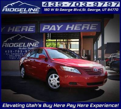 2008 Toyota Camry for sale at Ridgeline Auto Sales in Saint George UT