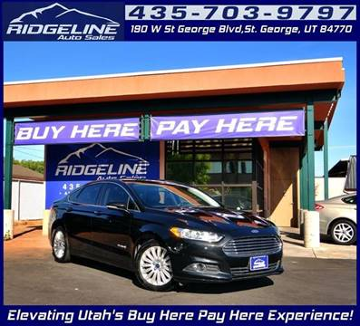 2015 Ford Fusion Hybrid for sale in Saint George, UT