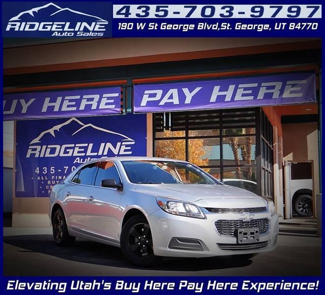 2014 Chevrolet Malibu for sale at Ridgeline Auto Sales in Saint George UT