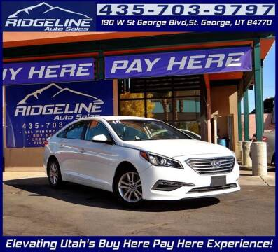 2015 Hyundai Sonata for sale at Ridgeline Auto Sales in Saint George UT