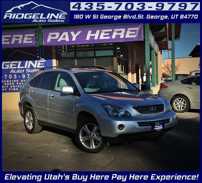 2008 Lexus RX 400h for sale at Ridgeline Auto Sales in Saint George UT