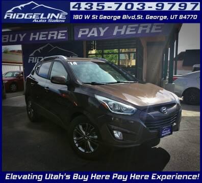 2014 Hyundai Tucson for sale at Ridgeline Auto Sales in Saint George UT