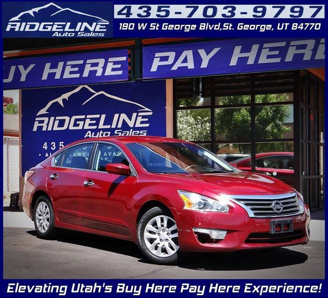 2014 Nissan Altima for sale at Ridgeline Auto Sales in Saint George UT