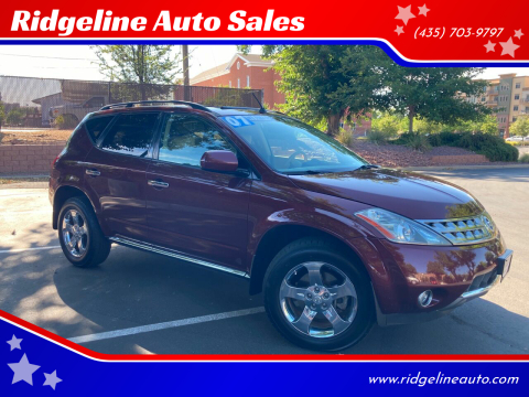 2007 Nissan Murano for sale at Ridgeline Auto Sales in Saint George UT