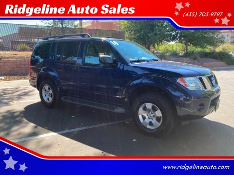 2010 Nissan Pathfinder for sale at Ridgeline Auto Sales in Saint George UT