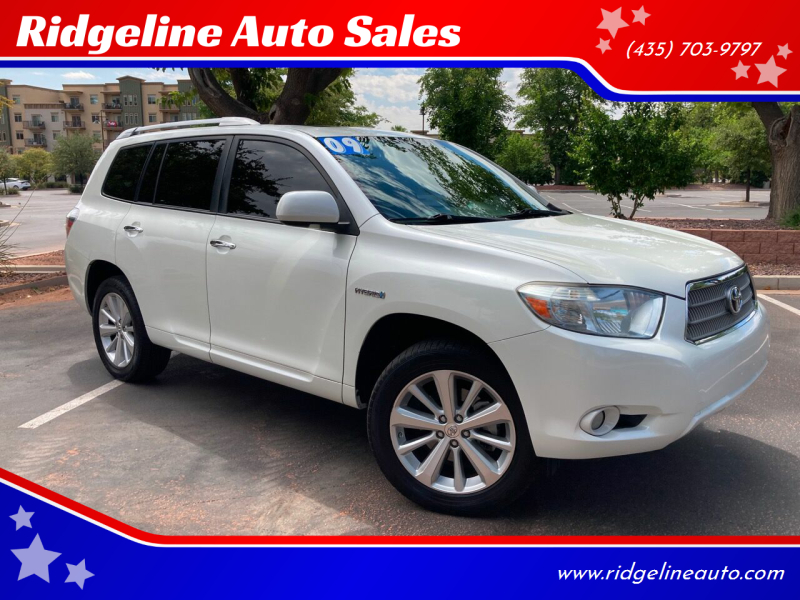 2009 Toyota Highlander Hybrid for sale at Ridgeline Auto Sales in Saint George UT
