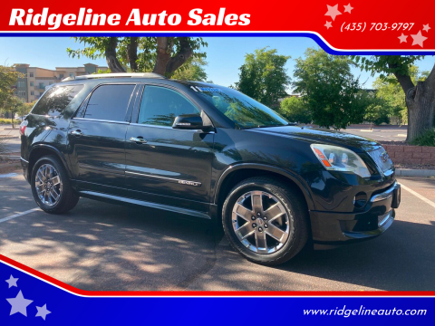 2011 GMC Acadia for sale at Ridgeline Auto Sales in Saint George UT