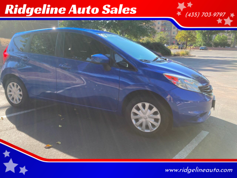 2015 Nissan Versa Note for sale at Ridgeline Auto Sales in Saint George UT