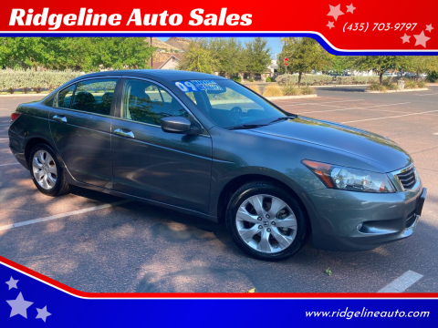 2009 Honda Accord for sale at Ridgeline Auto Sales in Saint George UT