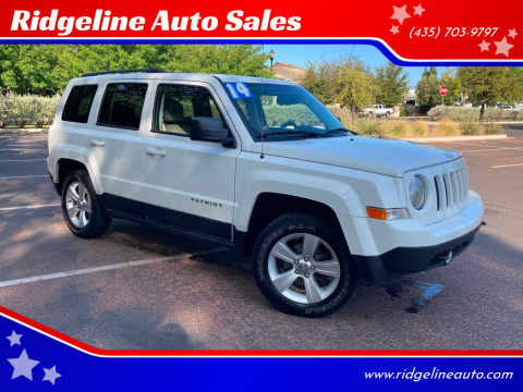 2014 Jeep Patriot for sale at Ridgeline Auto Sales in Saint George UT