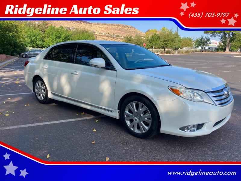 2011 Toyota Avalon for sale at Ridgeline Auto Sales in Saint George UT