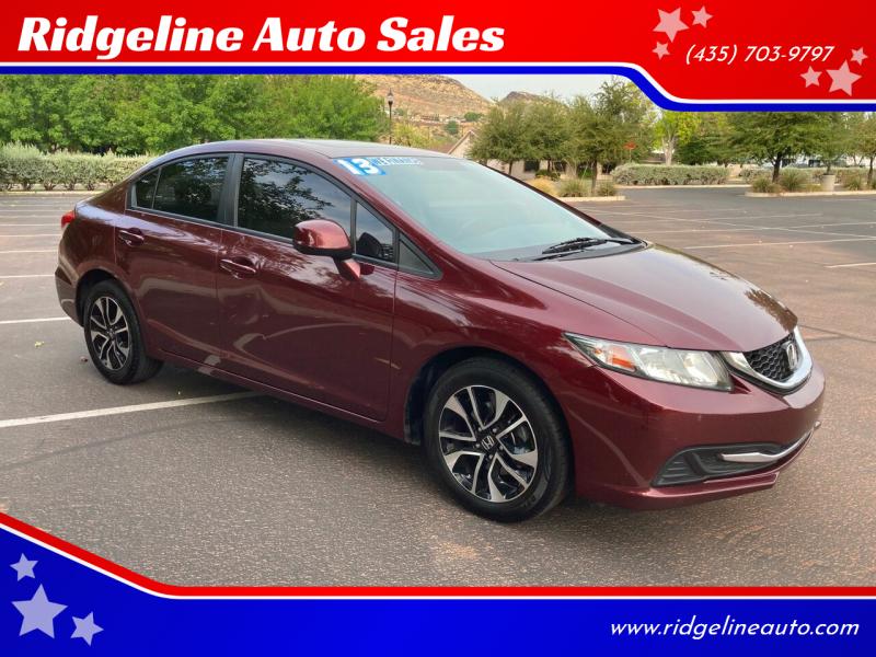 2013 Honda Civic for sale at Ridgeline Auto Sales in Saint George UT