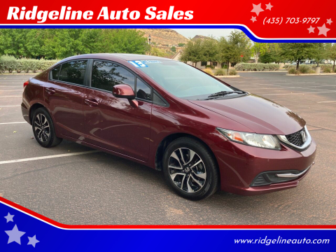 2013 Honda Civic for sale at Ridgeline Auto Sales in Saint George UT
