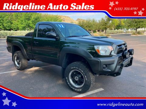 2012 Toyota Tacoma for sale at Ridgeline Auto Sales in Saint George UT