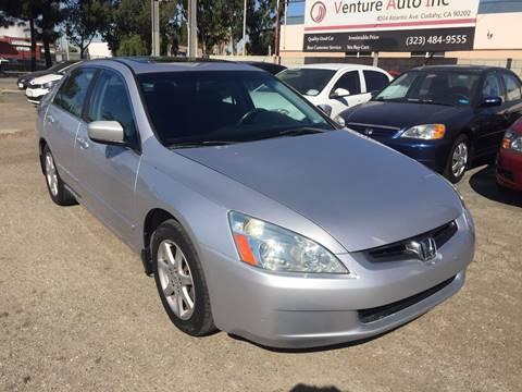 2004 Honda Accord for sale at Venture Auto Inc in South Gate CA