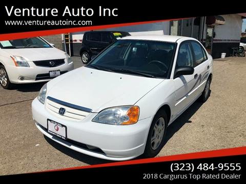 2001 Honda Civic for sale at Venture Auto Inc in South Gate CA