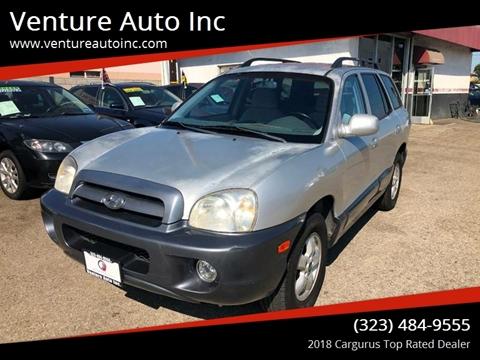 2005 Hyundai Santa Fe for sale at Venture Auto Inc in South Gate CA