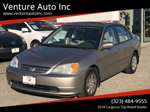 2003 Honda Civic for sale at Venture Auto Inc in South Gate CA