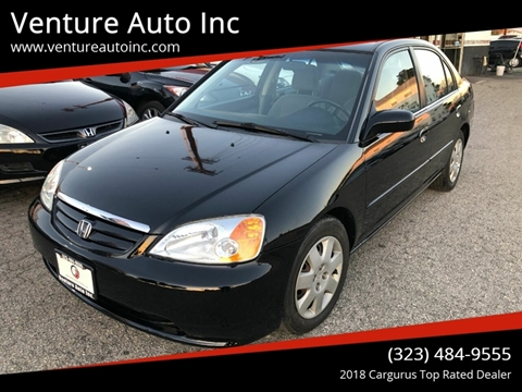 2002 Honda Civic for sale at Venture Auto Inc in South Gate CA