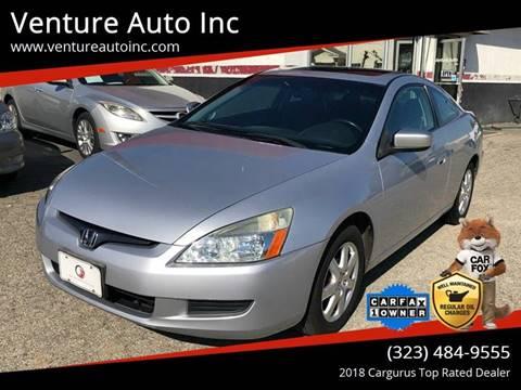 2005 Honda Accord for sale at Venture Auto Inc in South Gate CA