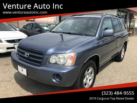 2003 Toyota Highlander for sale at Venture Auto Inc in South Gate CA