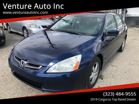 2003 Honda Accord for sale at Venture Auto Inc in South Gate CA