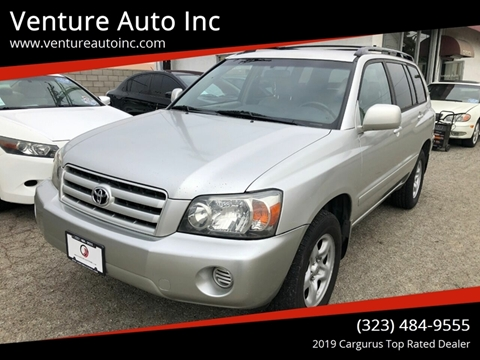 2006 Toyota Highlander for sale at Venture Auto Inc in South Gate CA