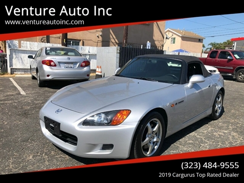 2002 Honda S2000 for sale at Venture Auto Inc in South Gate CA