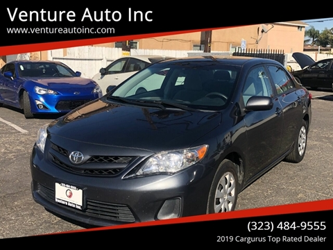 2011 Toyota Corolla for sale at Venture Auto Inc in South Gate CA