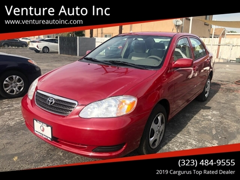 2007 Toyota Corolla for sale at Venture Auto Inc in South Gate CA