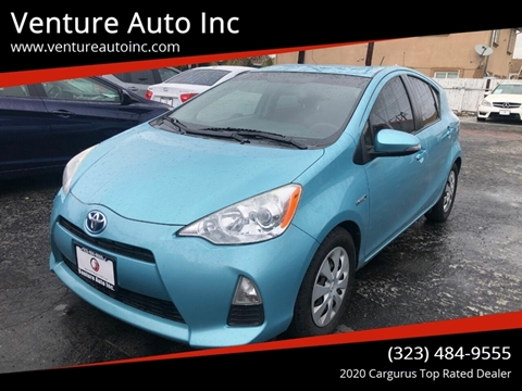 2012 Toyota Prius c for sale at Venture Auto Inc in South Gate CA