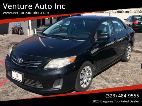 2013 Toyota Corolla for sale at Venture Auto Inc in South Gate CA